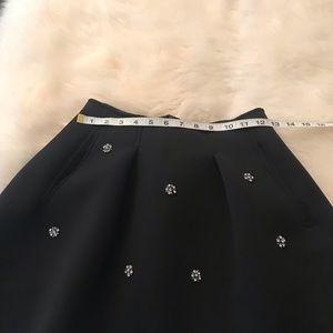 Olivaceous Black S Mini Skirt Holidays snowflakes